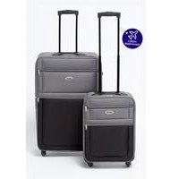Two-Tone Luggage Set