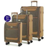 Members by Rock - Boston 3 Piece Luggage Set