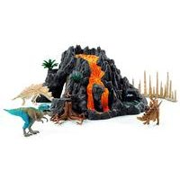 Schleich Dinosaurs Giant Volcano and T-Rex Dinosaur Figures