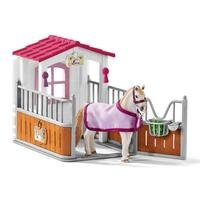 Schleich Club Horse Stall with Lusitano Mare Horse Toy Figure