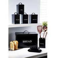 8-Piece Black Storage Set