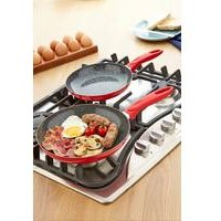 2-Piece Red Durastone Frying Pan Set