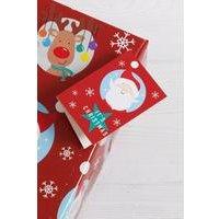 4 Santa and Rudolph Tags