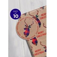 10 Kraft Stag Gift Tags