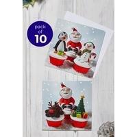 10 Christmas Cupcakes Cards