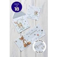 18 Woodland Trio Cards