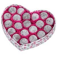 Floral Heart Box Champagne Chocolates