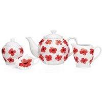 Sabichi Spring Poppy 4-Piece Tea Set