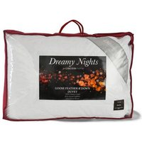 Dreamy Nights Goose Feather and Down 13.5 Tog Single Duvet
