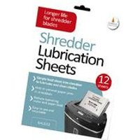Pack of 12 Cathedral Shredder Lubrication Sheets