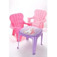 Dolu Pink Table and Chairs Furniture Set