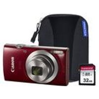 Canon IXUS 185 Camera with 32GB SD Card and Case