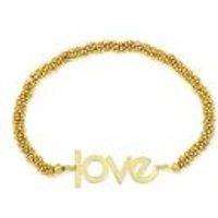 Gold Plated Stretch Bead Bracelet
