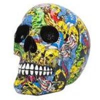 Graffiti Skull Figurine