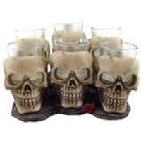 Set of 6 Shooter Skull Shot Glasses