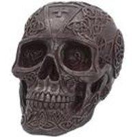 Celtic Iron Skull Figurine