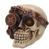 Monocle Man Skull Figurine