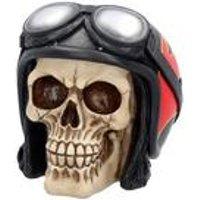 Hell Fire Skull Figurine