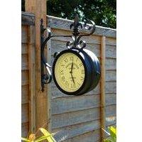 Paddington Double Sided Faced Metal Wall Clock