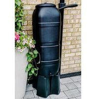 100L Slimline Garden Water Butt Set Including Tap with Stand and Filler Kit