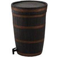 120L Oak Wood Effect Garden Water Butt Including Easy Twist Tap