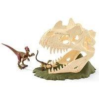 Schleich Dinosaurs Large Skull Trap with Velociraptor Dinosaur Figure