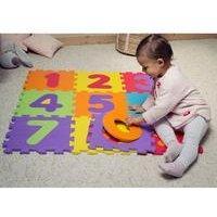 Darpeje Numbers Floor Mat Puzzle with 9 Pieces
