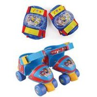 Paw Patrol Adjustable Quad Skates with Knee and Elbow Pads