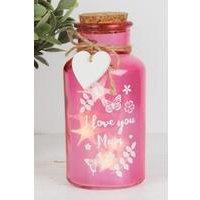 I Love You Mum Pink Light Up Jars