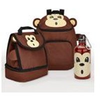 Baby Animal Monkey Backpack and Lunch Bag Set