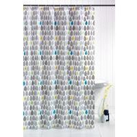 Rain Drops Shower Curtain with Hooks