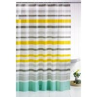 Ocean Stripe Shower Curtain with Hooks
