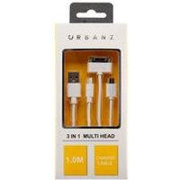 Urbanz 3-in-1 USB 1M Lightning Charging Cable