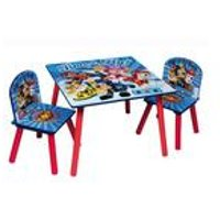 Paw Patrol Blue Wooden Table and Chair Set