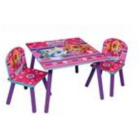Paw Patrol Pink Wooden Table and Chair Set