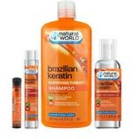 Natural World Brazilian Keratin 4-Piece Hair Set