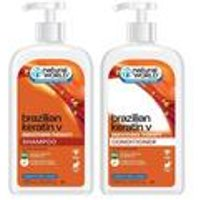 Natural World Brazilian Keratin Shampoo and Conditioner Set