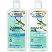 Natural World Coconut Oil Shampoo and Conditioner Set
