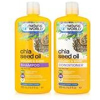 Natural World Chia Seed Shampoo and Conditioner Set