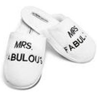 Mrs Fabulous Plush Slippers