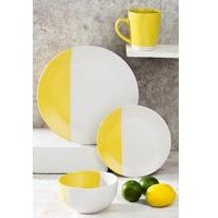 16-Piece Yellow Duo Dinner Set