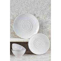 12-Piece Embossed Melamine Dinner Set