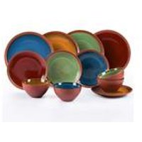 12-Piece Reactive Glaze Terracotta Style Dinner Set