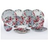 18-Piece Floral New Bone Dinner Set