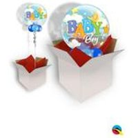 Baby Boy Moon and Stars Bubble Balloon