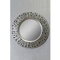 Circular Golden Mirror