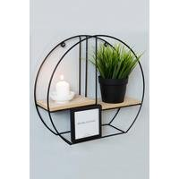 Round Metal Wall Shelf with Photo Frame