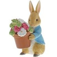Beatrix Potter Peter Rabbit Brings Flowers Figurine