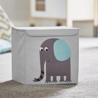 Potwells Animal Range-Elephant Teal Storage Boxes