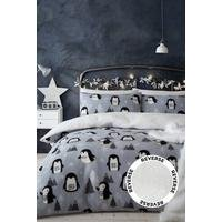 Cosy Penguin Fleece Duvet Set